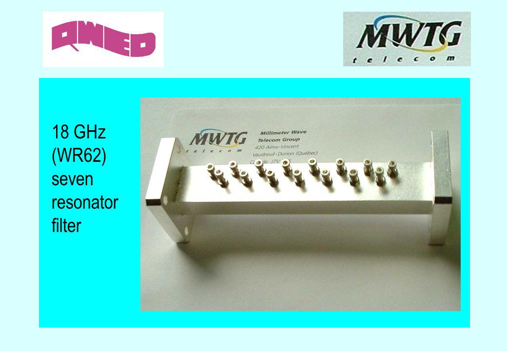 18 GHz (WR62) seven resonator filter