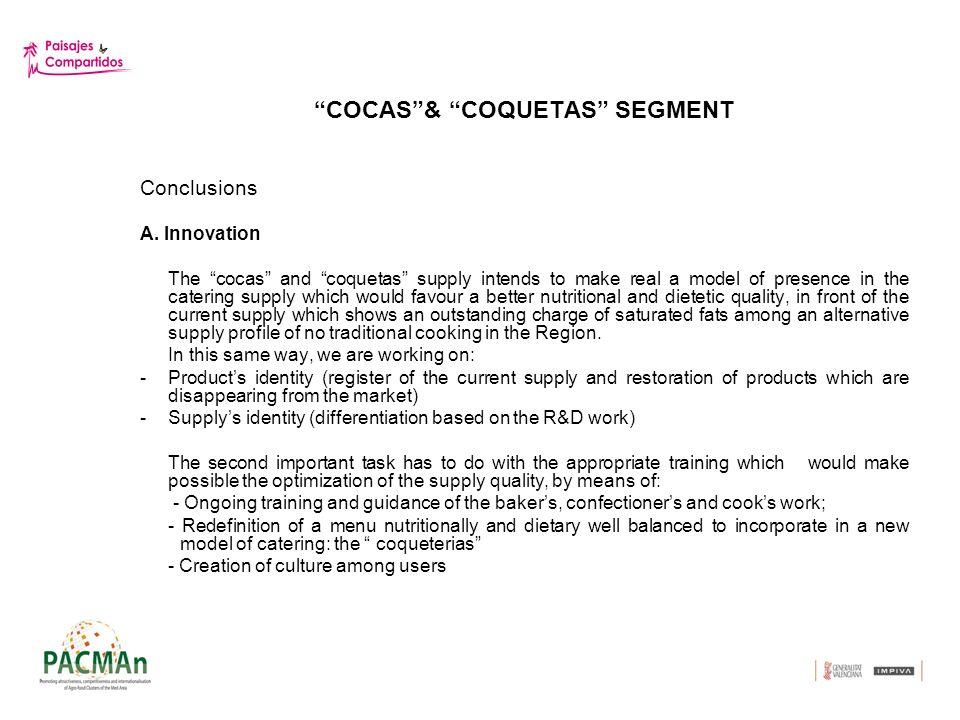 COCAS& COQUETAS SEGMENT Conclusions A.