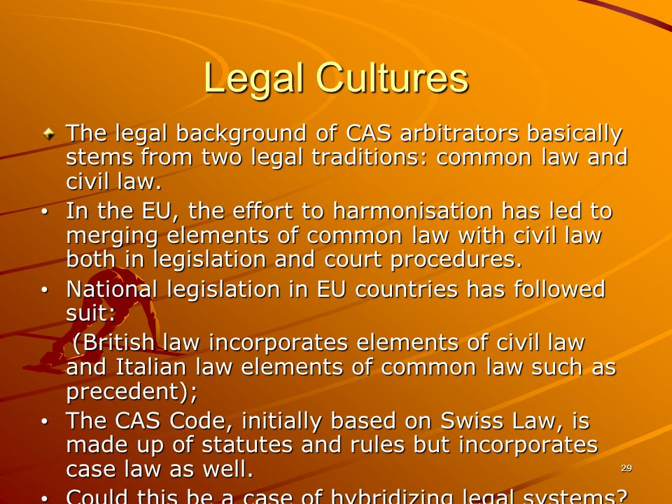 28 Power and statistics Legal discourse tends to be self- referential, all the more so at the CAS.