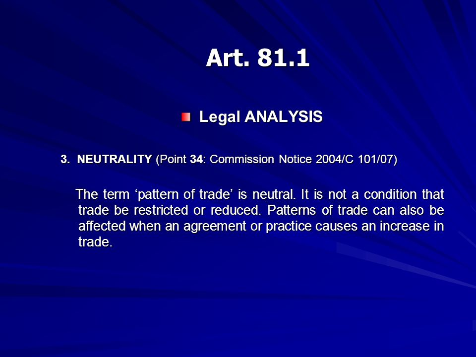Legal ANALYSIS 3.
