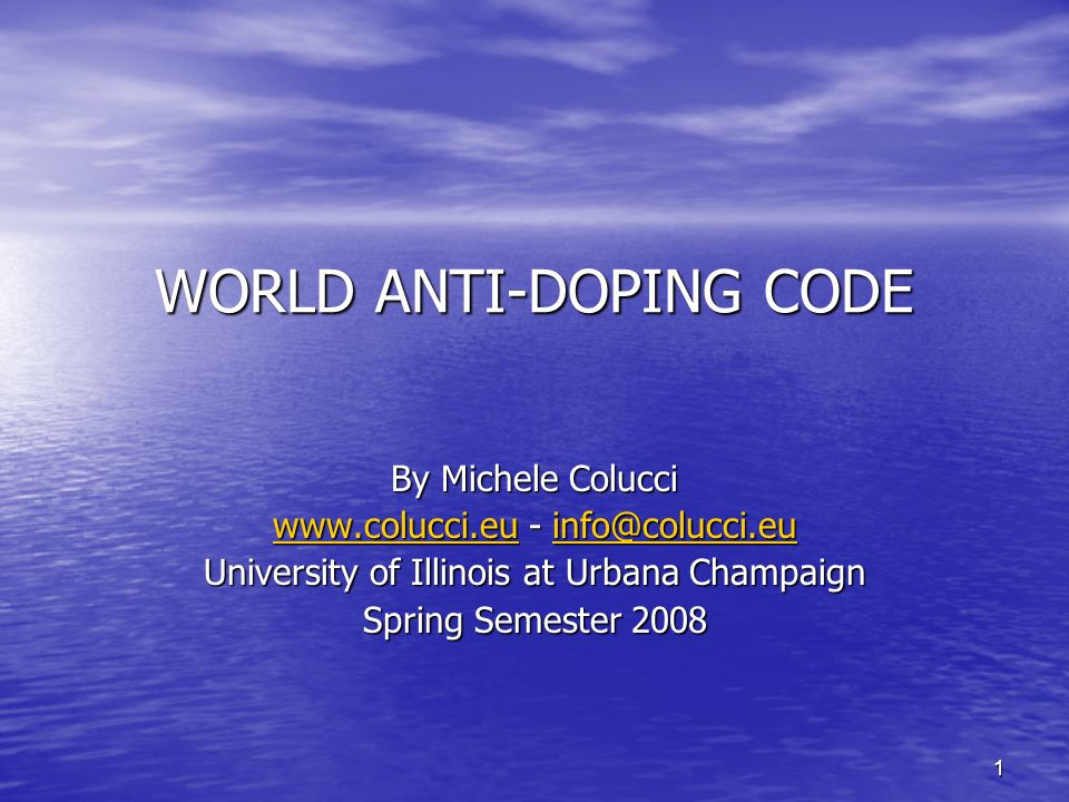 42 THE FIGHT AGAINST DOPING IN THE USA The Mitchell report (December 2007)...beyond simple recommendations...