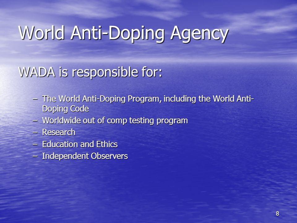 39 EDUCATION & RESEARCH –Each anti-doping organisation should plan, implement and monitor information and education programs, at a minimum on: Substances & methods on the Prohibited List Health consequences of doping Doping Control procedures Athletes rights and responsibilities