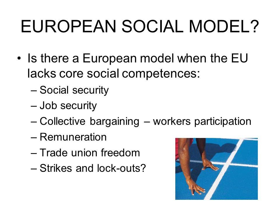 EUROPEAN SOCIAL MODEL.