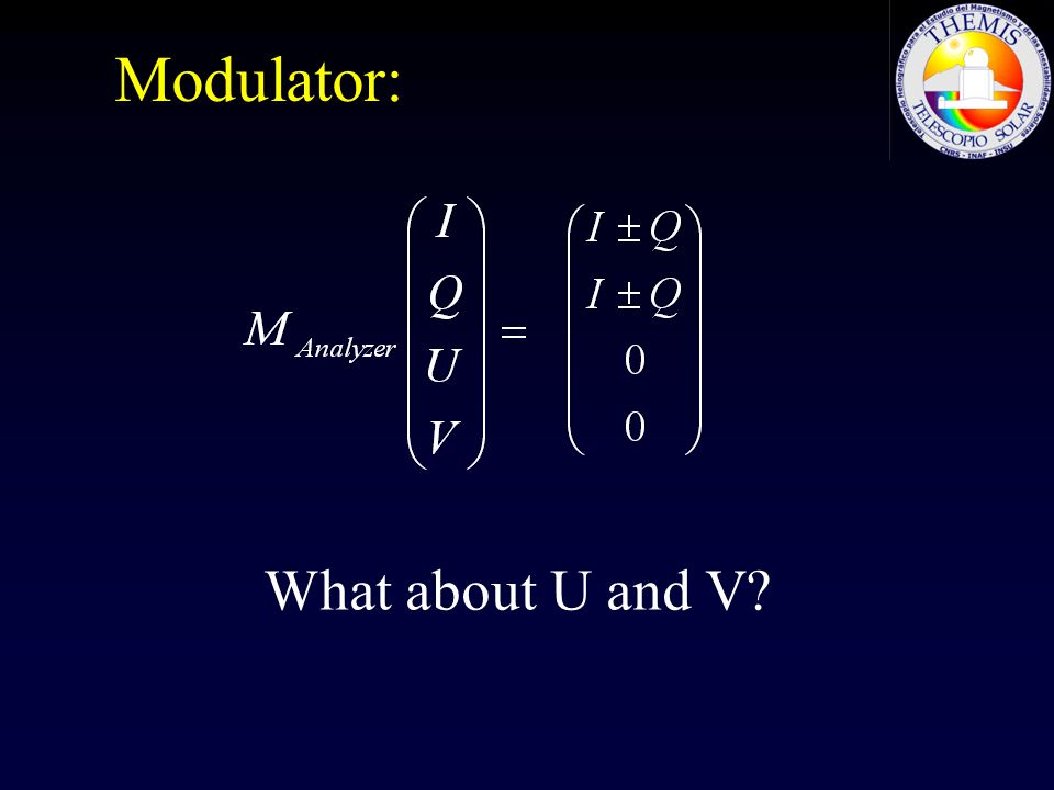 Modulator: What about U and V?