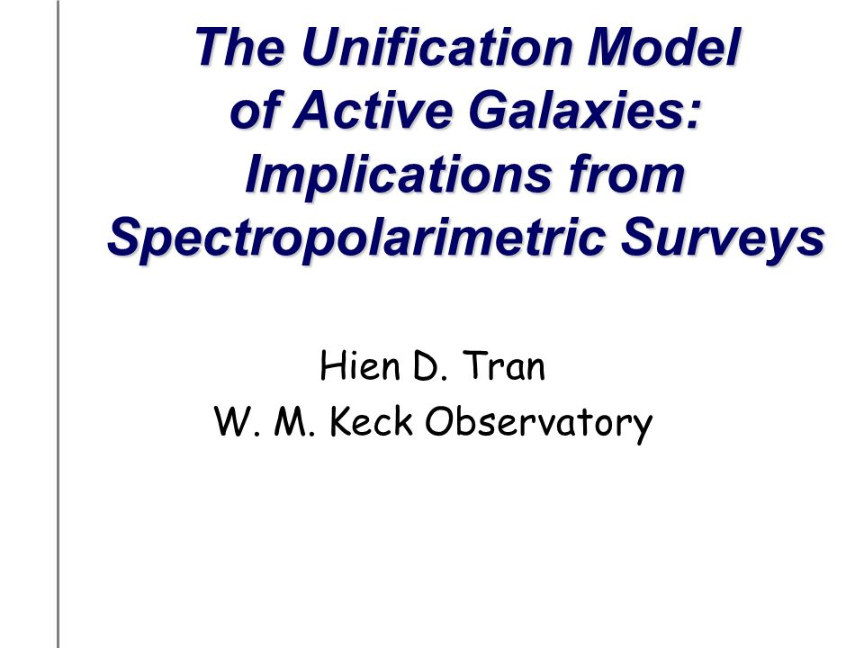 72 Spectropolarimetric Study of Seyfert Galaxies Spectropolarimetric survey of complete samples of Seyfert 2s (CfA and 12 m samples) to look for hidden broad-line regions (HBLRs) –Observations: Lick & Palomar Observatories 59 Seyfert 2 galaxies –Results: HBLRs detected in 1/2 of Seyfert 2 population How are the HBLR S2s different from non-HBLR S2s.