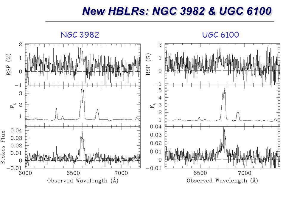 New HBLRs: NGC 3982 & UGC 6100 NGC 3982UGC 6100