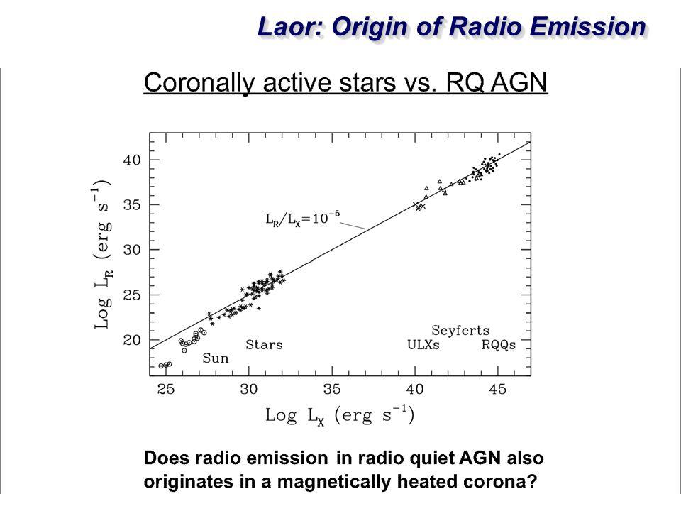 Laor: Origin of Radio Emission
