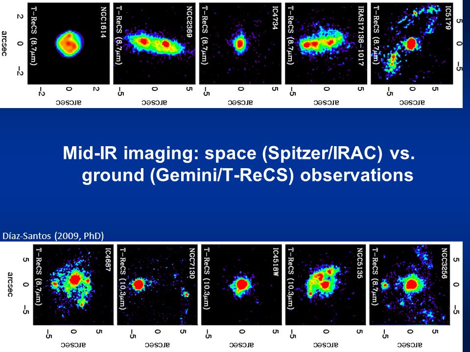 Ground-based subarcsecond resolution mid-IR imaging data for 21 nearby Seyfert galaxies.
