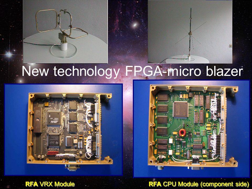 New technology FPGA-micro blazer RFA VRX Module RFA CPU Module (component side)