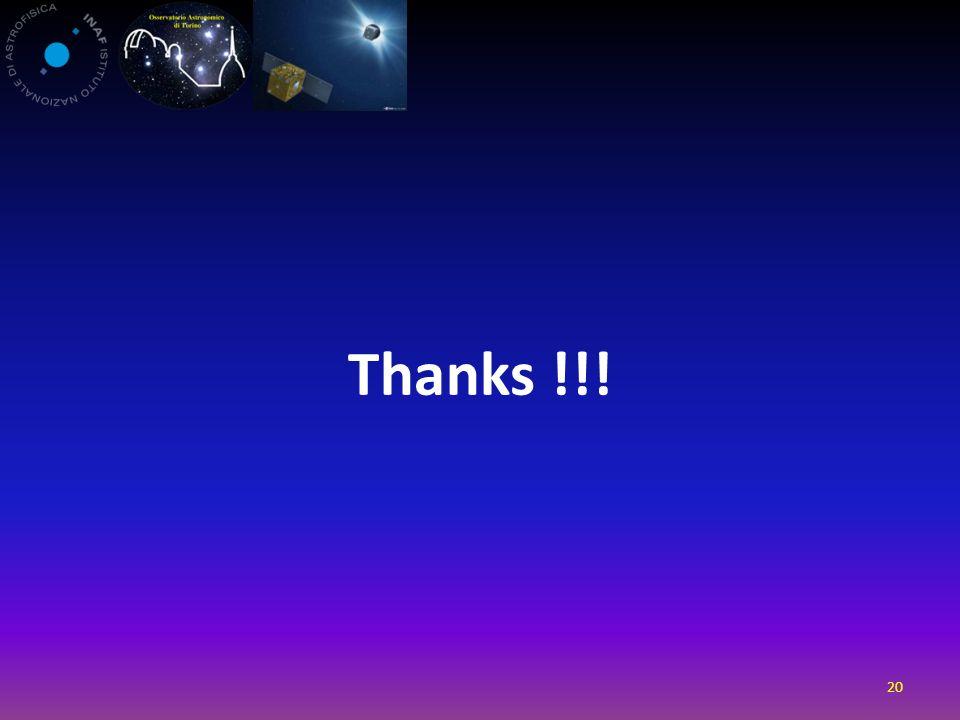 Thanks !!! 20