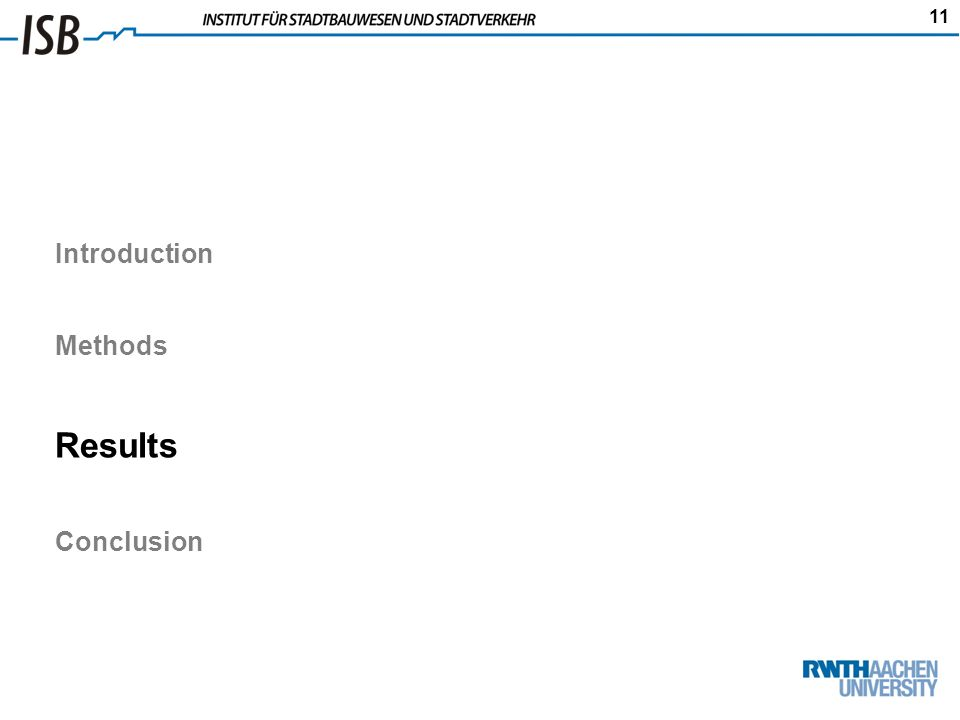 11 Introduction Methods Results Conclusion