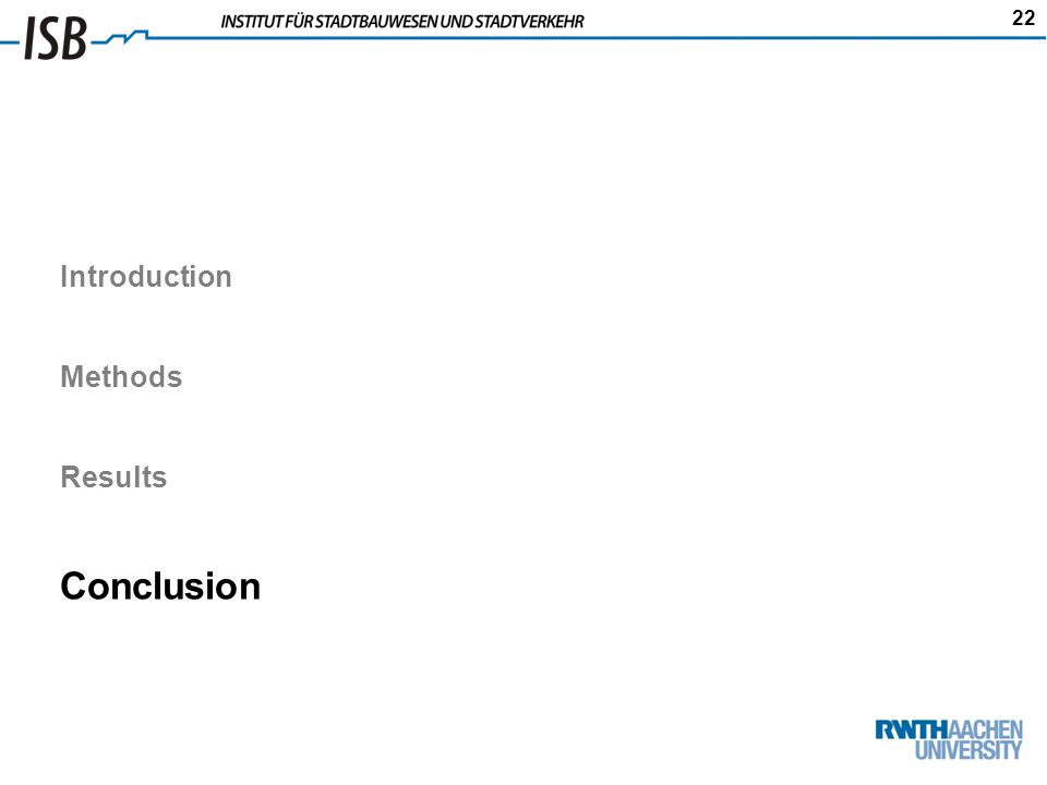 22 Introduction Methods Results Conclusion
