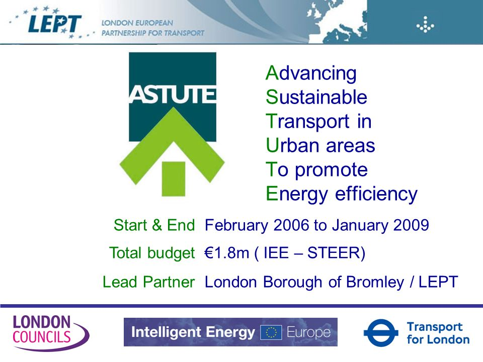London European Partnership for Transport www.lept-eu.org LEPT Coordination Implementation Preparation Dissemination
