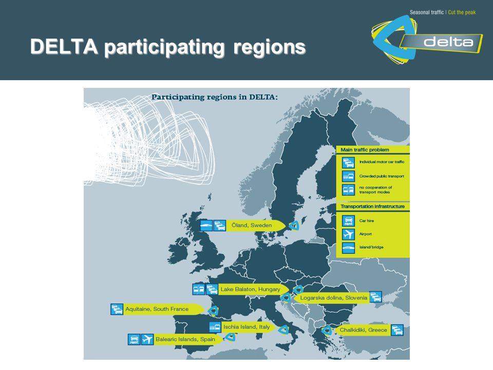 DELTA participating regions
