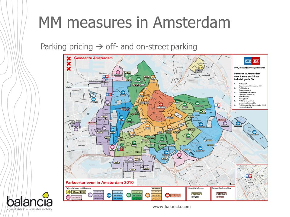 www.balancia.com MM measures in Amsterdam Parking pricing off- and on-street parking