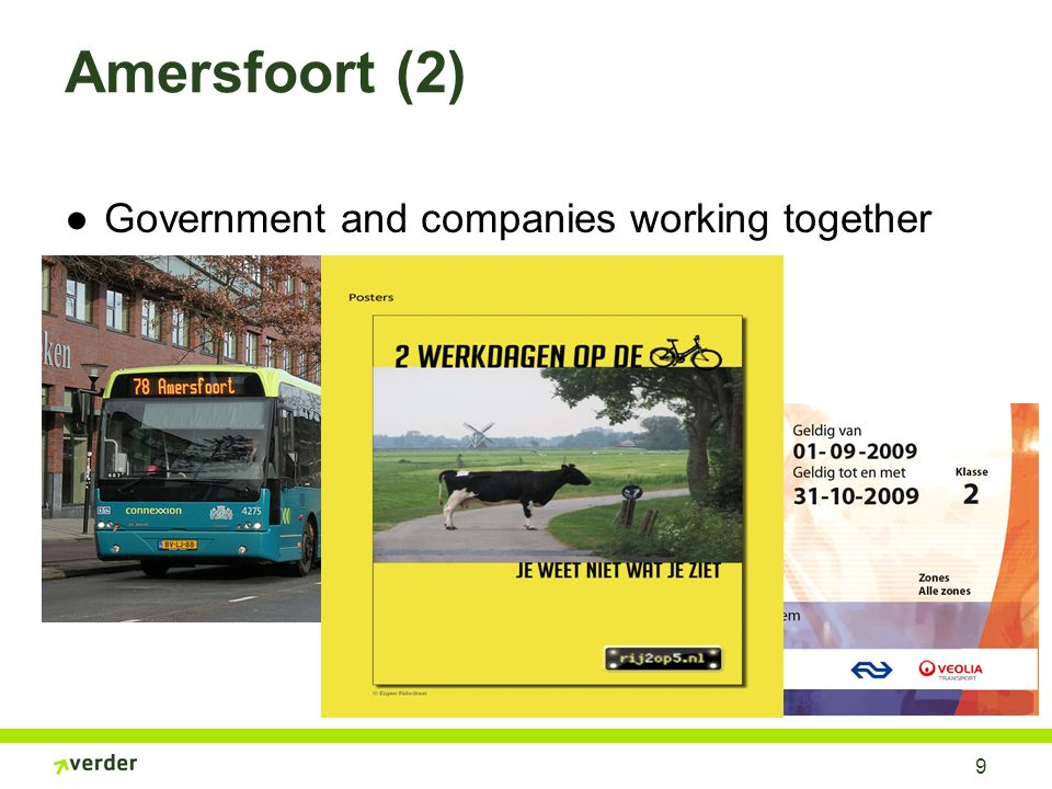 Amersfoort (2) Government and companies working together 9