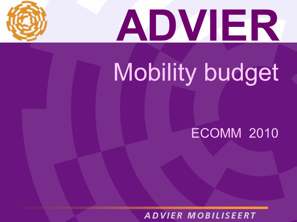 ADVIER Mobility budget ECOMM 2010