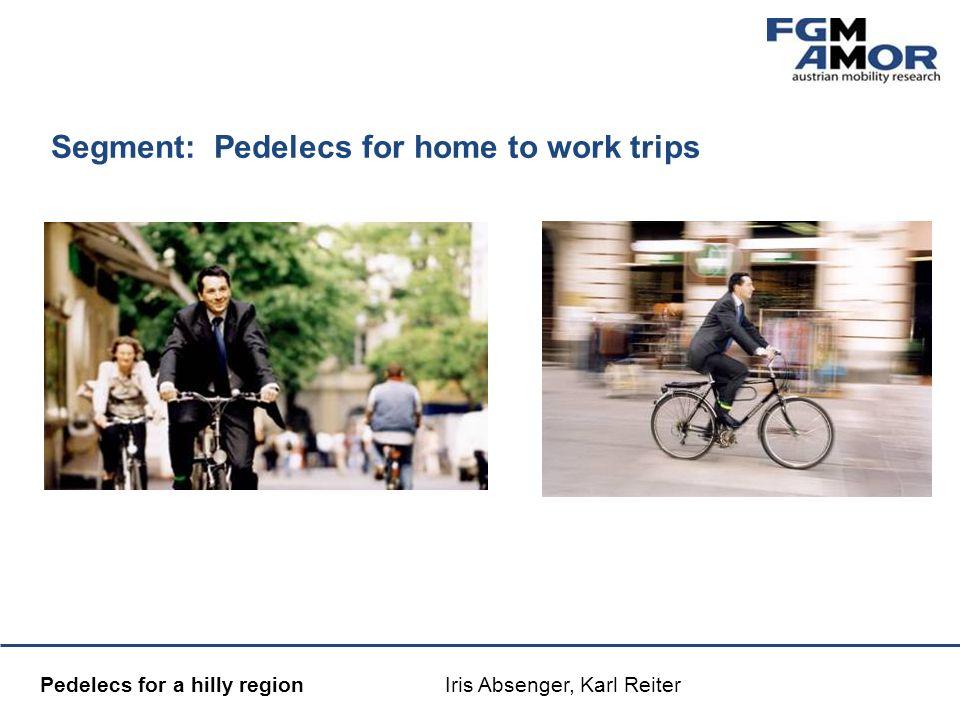 Mobilitätsmanagement Pedelecs for a hilly region Iris Absenger, Karl Reiter Segment: Pedelecs for home to work trips