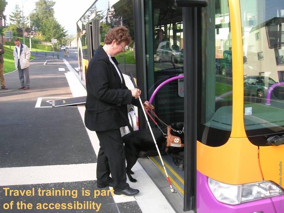Travel training is part of the accessibility policy Photo: SMT Artois-Gohelle