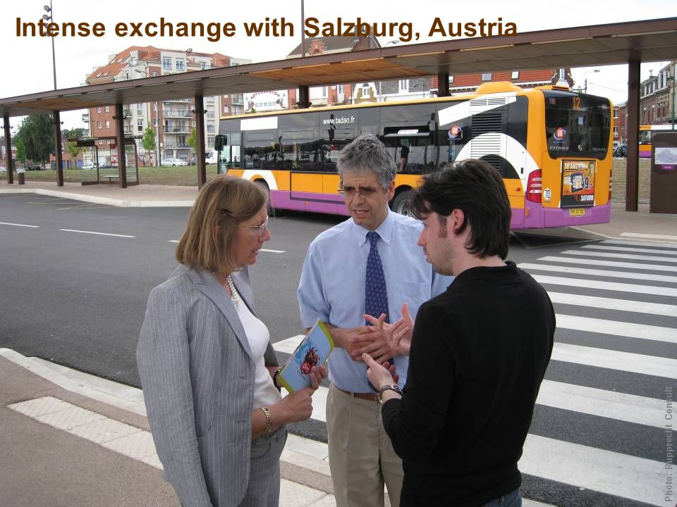 Intense exchange with Salzburg, Austria Photo: Rupprecht Consult