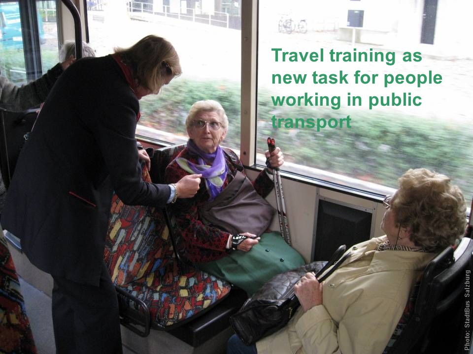 Travel training as new task for people working in public transport Photo: StadtBus Salzburg