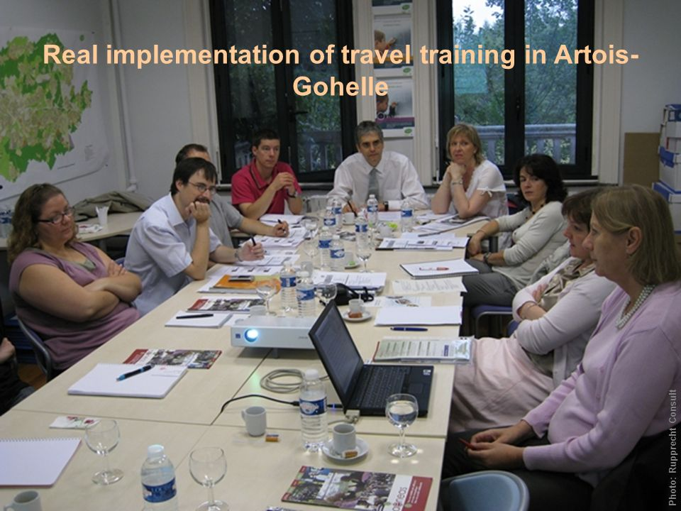 Real implementation of travel training in Artois- Gohelle Photo: Rupprecht Consult