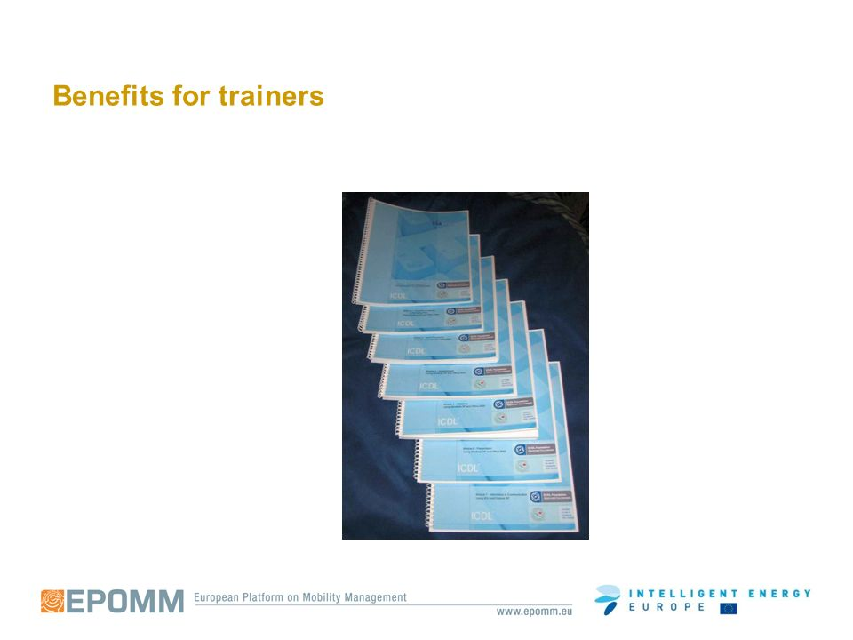 Benefits for trainers