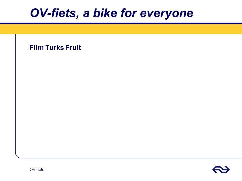 OV-fiets OV-fiets, a bike for everyone Film Turks Fruit