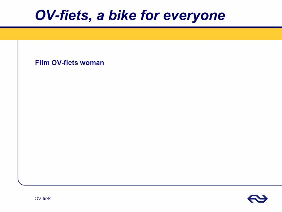 OV-fiets OV-fiets, a bike for everyone Film OV-fiets woman