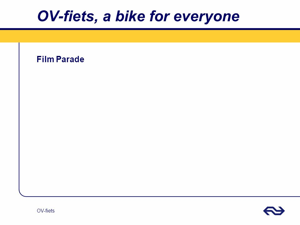 OV-fiets OV-fiets, a bike for everyone Film Parade