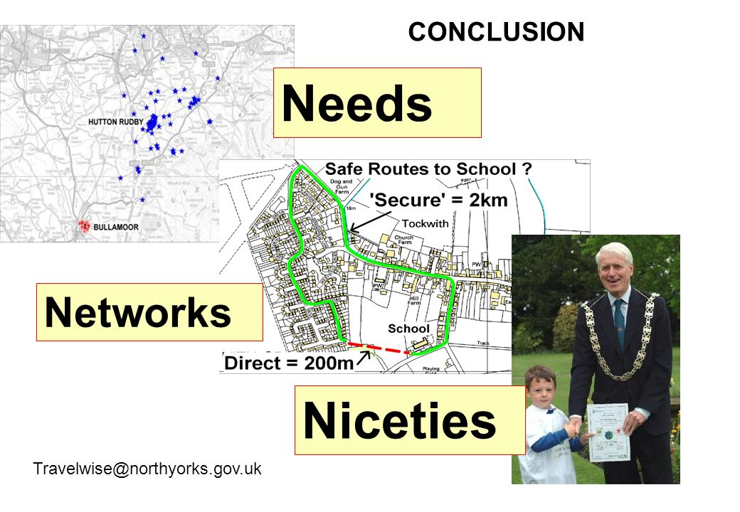 Needs Niceties Networks CONCLUSION Travelwise@northyorks.gov.uk