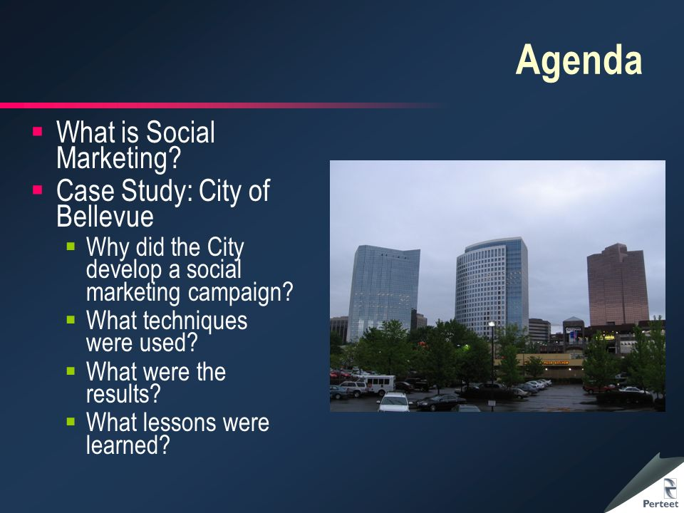 Agenda What is Social Marketing.