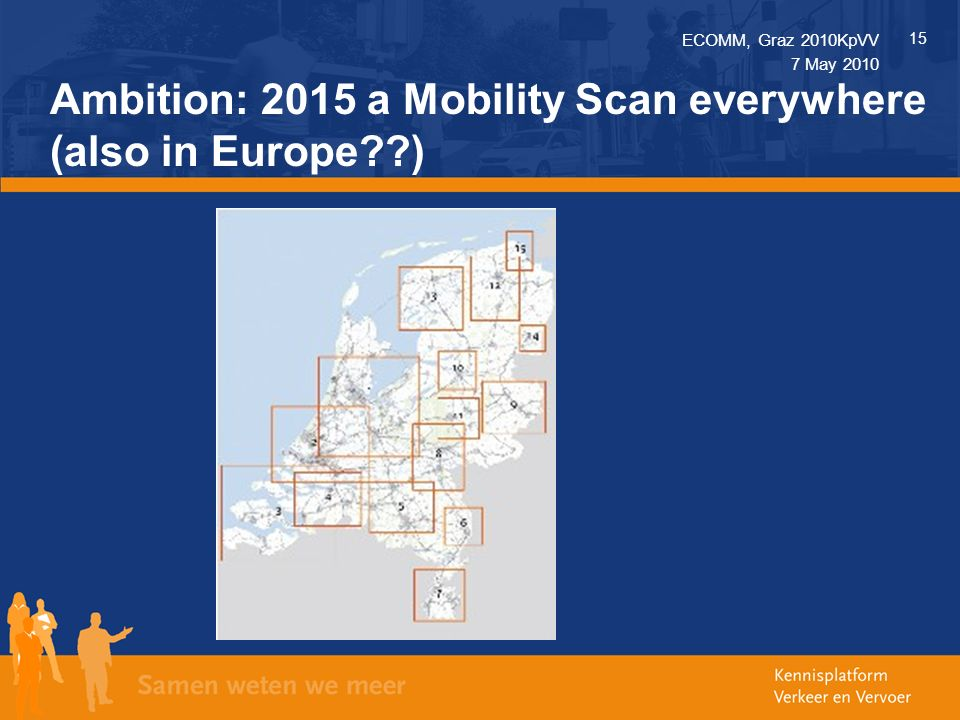 ECOMM, Graz 2010KpVV 15 7 May 2010 Ambition: 2015 a Mobility Scan everywhere (also in Europe )