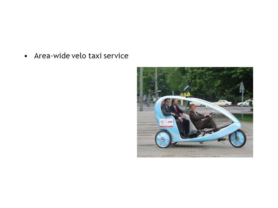 Area-wide velo taxi service