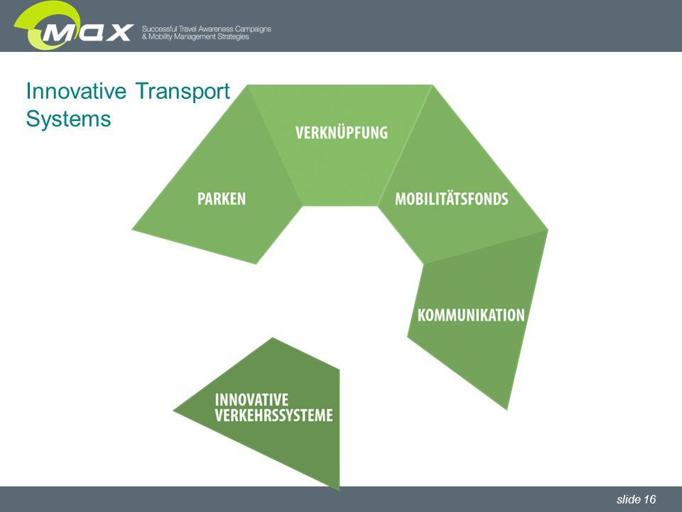 slide 16 Innovative Transport Systems