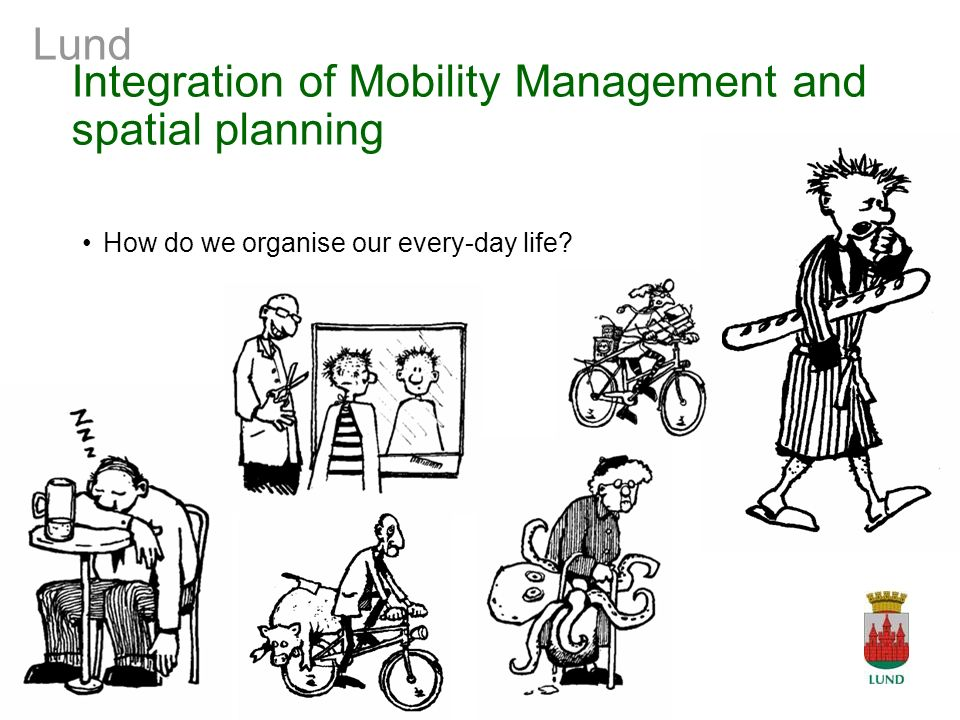 Lund Integration of Mobility Management and spatial planning How do we organise our every-day life?