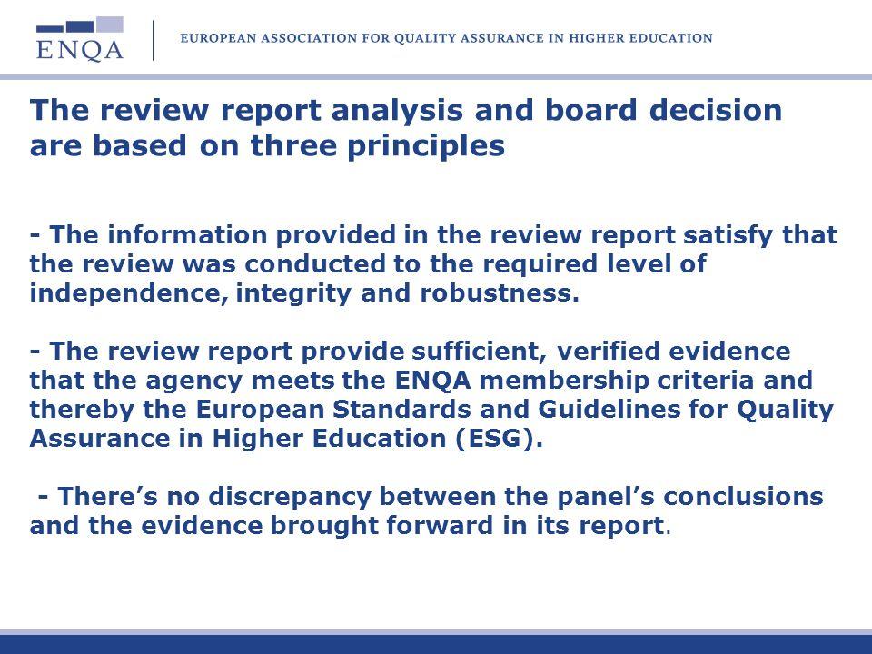 Thank your for your attention Achim Hopbach hopbach@akkreditierungsrat.de www.enqa.eu