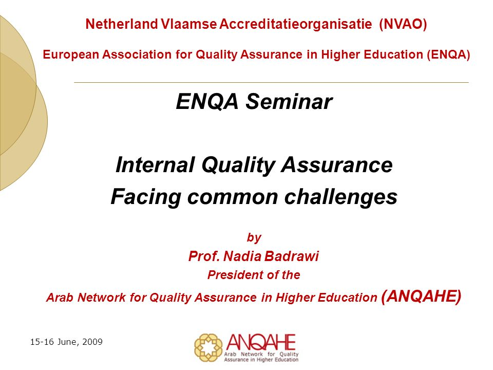 How ENQA Can Support the Challenges.
