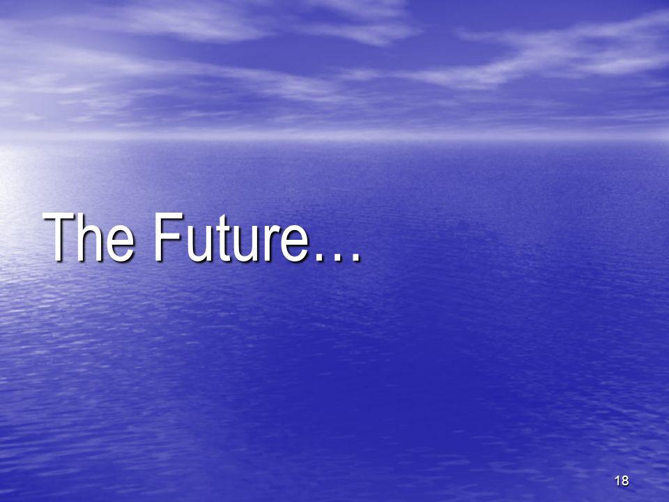 18 The Future…