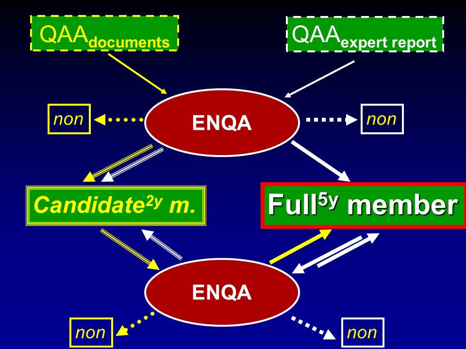 QAA documents QAA expert report Candidate 2y m. Full 5y member ENQA non