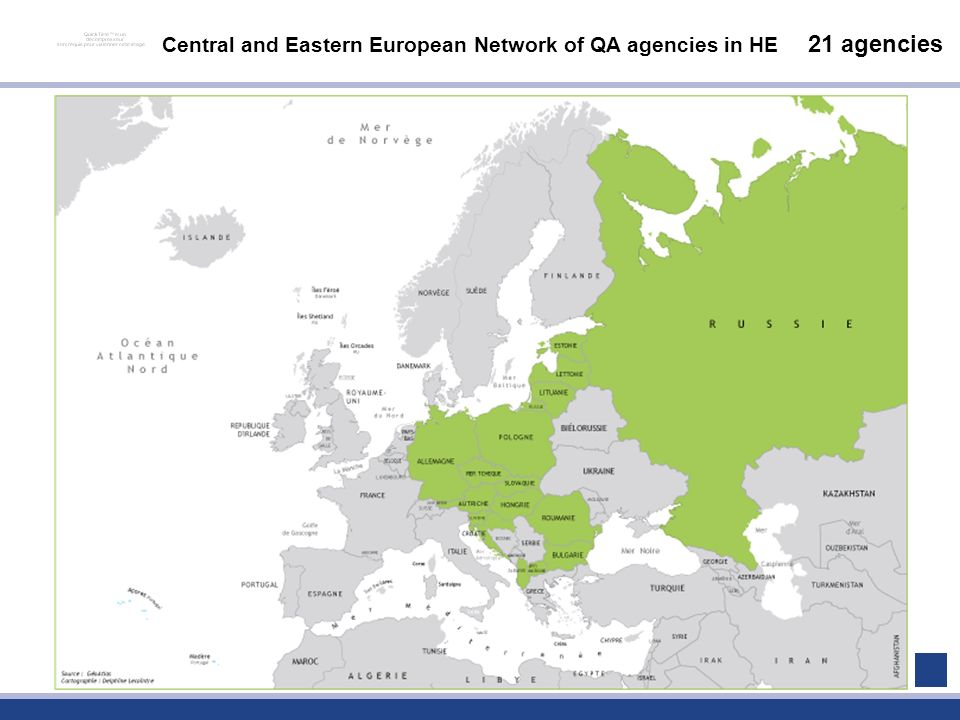 Central and Eastern European Network of QA agencies in HE 21 agencies