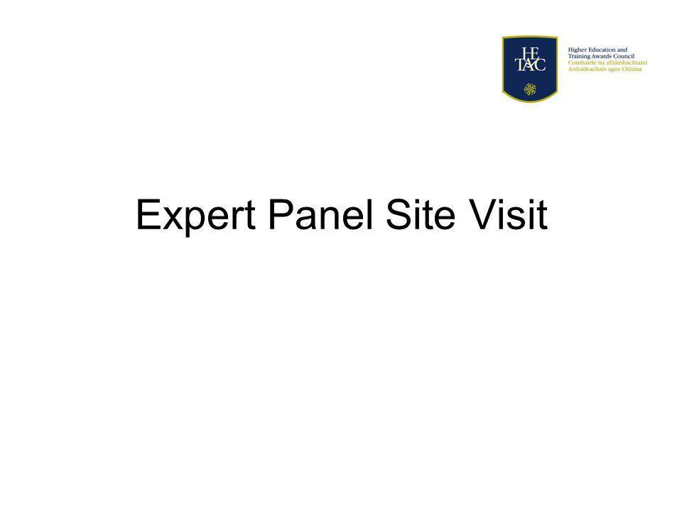 Expert Panel Site Visit