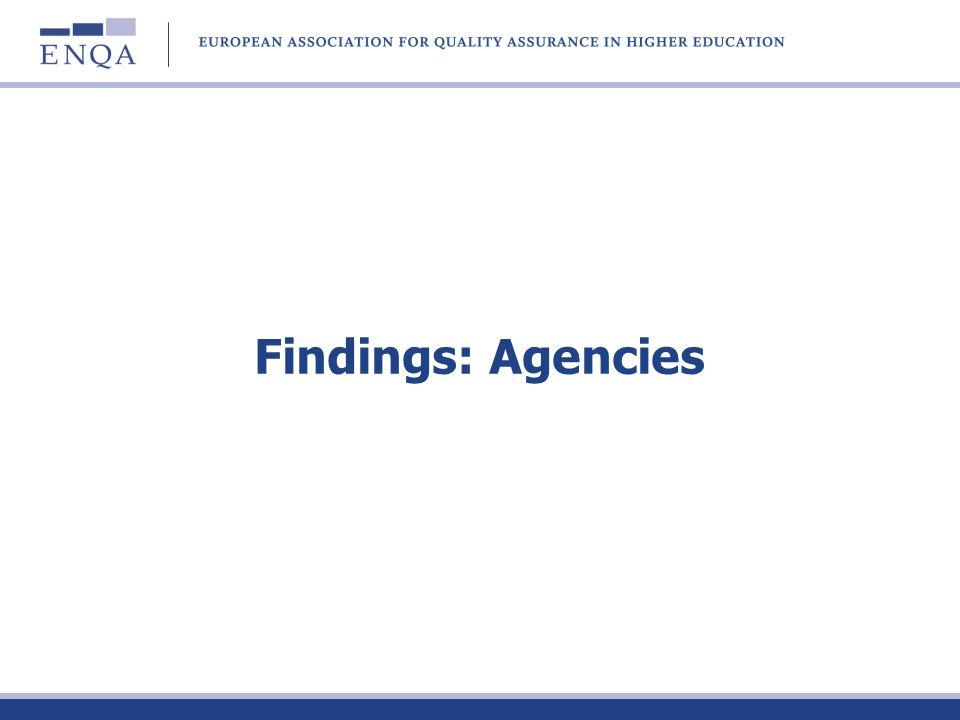 Findings: Agencies