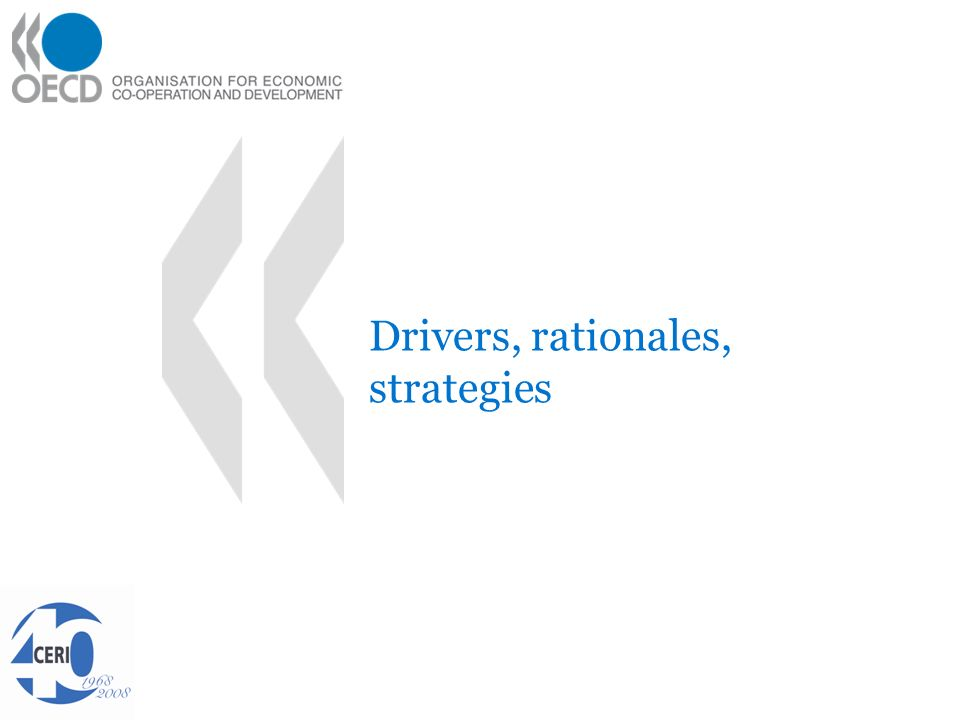 Drivers, rationales, strategies
