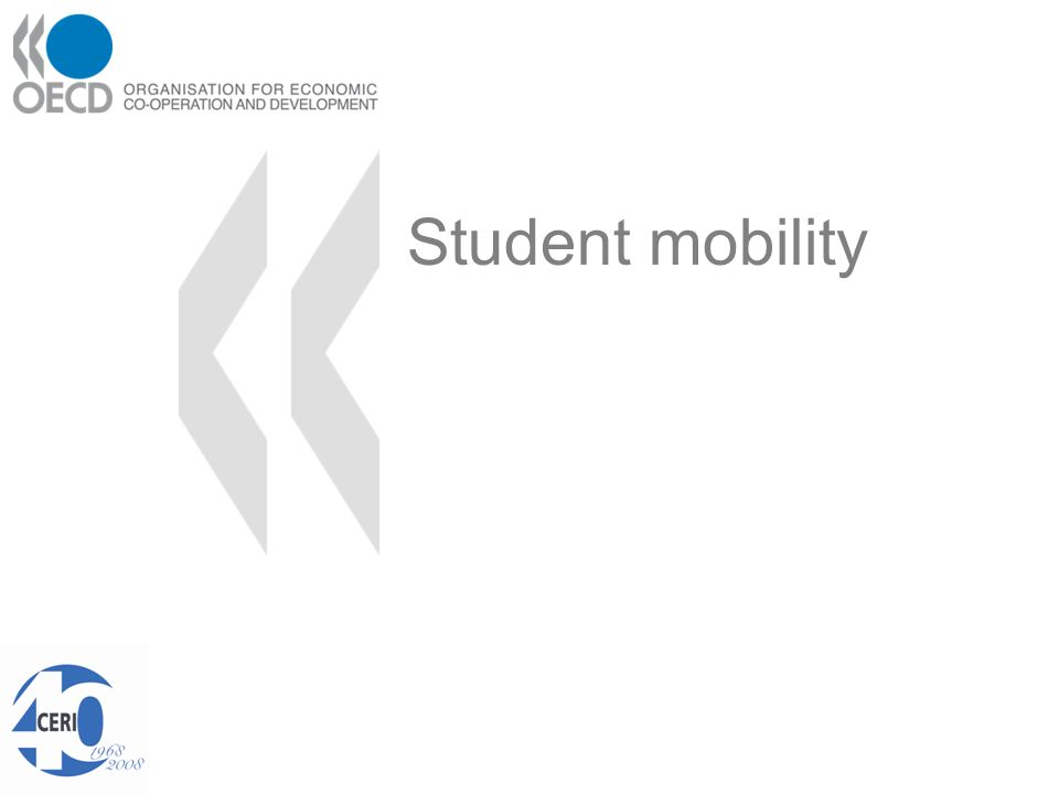 International mobility of students OECD countries receive about 85% of the ca.
