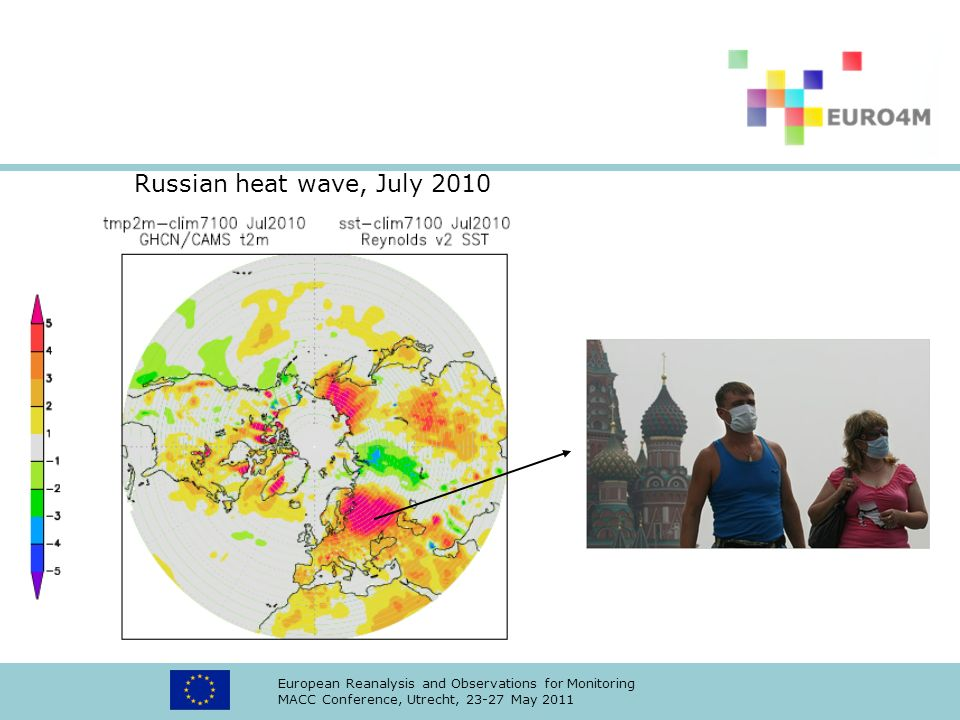 European Reanalysis and Observations for Monitoring MACC Conference, Utrecht, 23-27 May 2011 Russian heat wave, July 2010