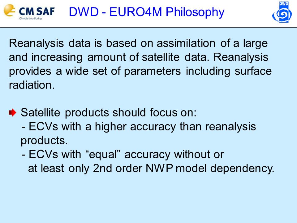 Shortwave radiation (SIS) Wild, JGR, 2009 ECHAM5 HAM model simulations Consistent with CMSAF-Heliosat data set for Europe, satellite-based trends in Africa will be investigated starting in spring 2010!