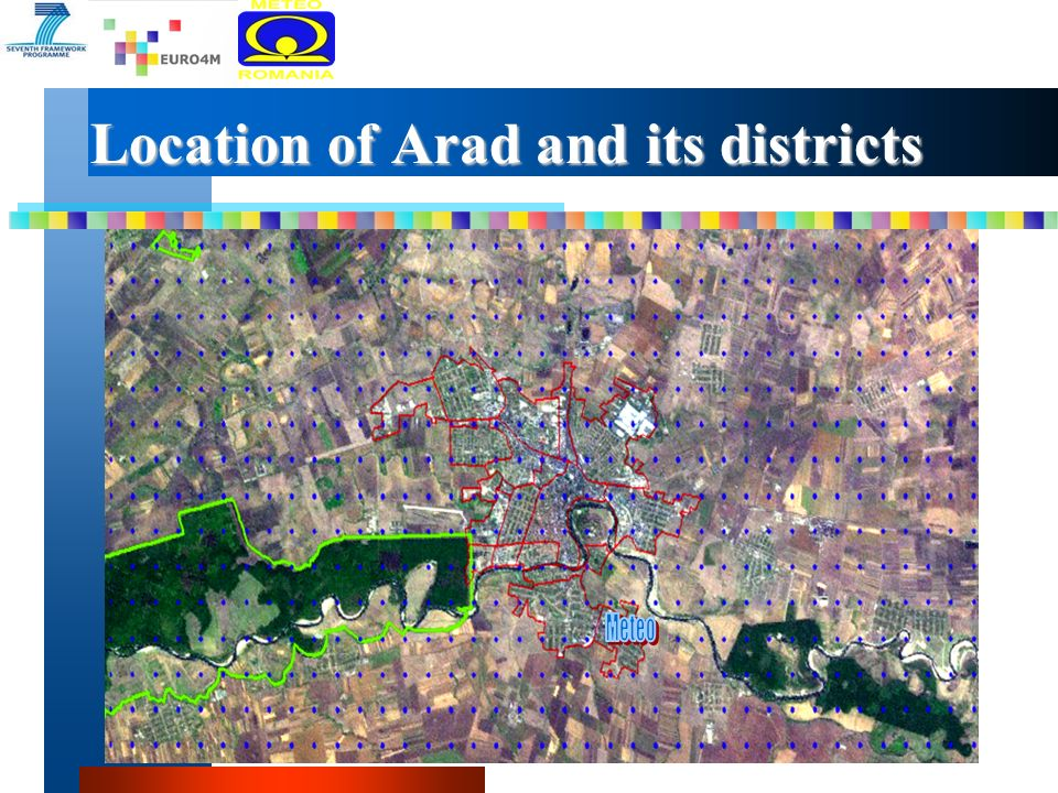 Location of Arad and its districts