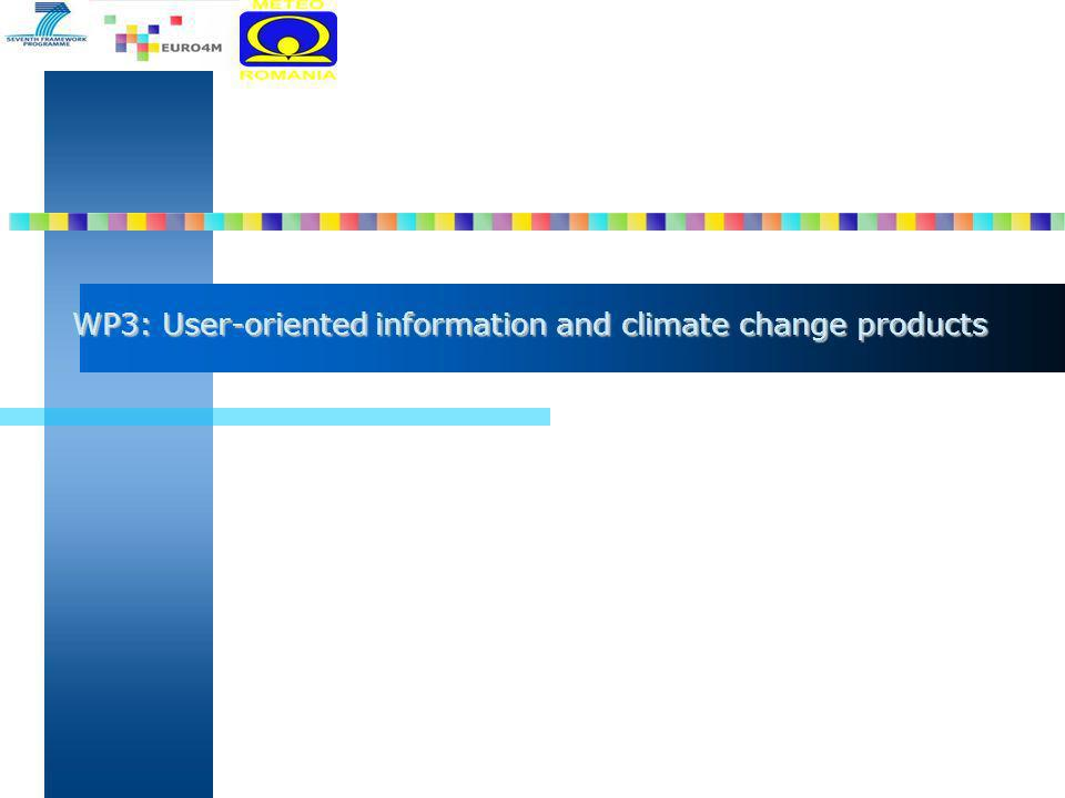 WP3: User-oriented information and climate change products
