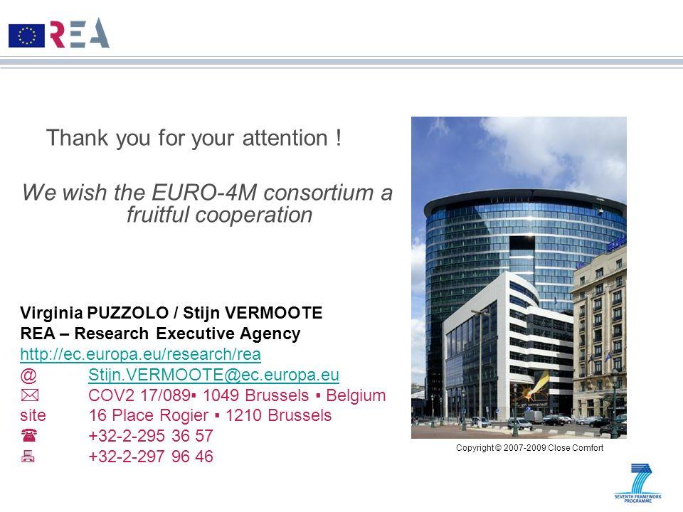 Virginia PUZZOLO / Stijn VERMOOTE REA – Research Executive Agency http://ec.europa.eu/research/rea @Stijn.VERMOOTE@ec.europa.euStijn.VERMOOTE@ec.europ